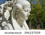 White Marble Sculptures In The...