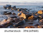 rocks on shore | Shutterstock . vector #396169681