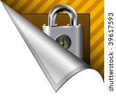 Secure Or Lock Icon On Vector...