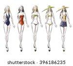 bikini catwalk  fashion... | Shutterstock . vector #396186235