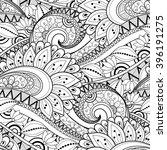 vector seamless monochrome... | Shutterstock .eps vector #396191275