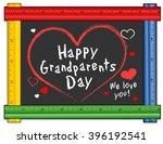 grandparents day chalkboard  we ... | Shutterstock .eps vector #396192541