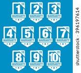 warranty seal shield badge | Shutterstock .eps vector #396197614