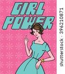 girl power vector illustration... | Shutterstock .eps vector #396210871