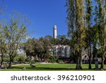 the coit tower photographed... | Shutterstock . vector #396210901