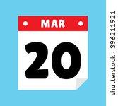 calendar icon flat march 20