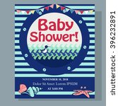 nautical baby shower card...   Shutterstock .eps vector #396232891
