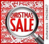 christmas sale word cloud with... | Shutterstock . vector #396236617