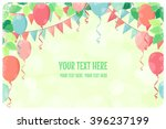 horizontal template with fresh... | Shutterstock .eps vector #396237199