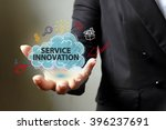 service innovation concept with ... | Shutterstock . vector #396237691