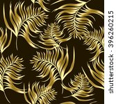 pattern with exotic leaves in... | Shutterstock .eps vector #396260215