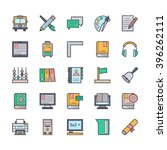 education icons 3 | Shutterstock .eps vector #396262111