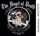 day of dead girl black and... | Shutterstock .eps vector #396270379