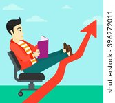businessman reading book. | Shutterstock .eps vector #396272011