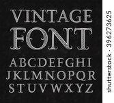 vintage patterned letters.... | Shutterstock .eps vector #396273625