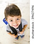 little boy with his book bag | Shutterstock . vector #39627496