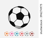 set of  black football vector...