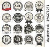 retro vintage sale badges and... | Shutterstock .eps vector #396278071