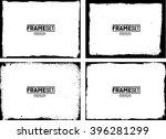 grunge frame texture set  ... | Shutterstock .eps vector #396281299
