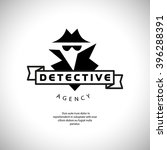 flat detective agency logo... | Shutterstock .eps vector #396288391