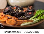 black pudding sausage  with... | Shutterstock . vector #396299509