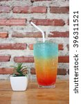 colorful cocktail drink    on... | Shutterstock . vector #396311521