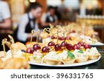 catering service. set table  | Shutterstock . vector #396331765