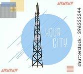 tv tower vector illustration in ... | Shutterstock .eps vector #396333244