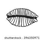 black contour nautical... | Shutterstock .eps vector #396350971