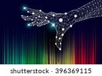 graphic of technological theme | Shutterstock .eps vector #396369115