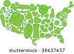 eco doodles united states of... | Shutterstock .eps vector #39637657