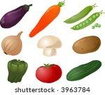 illustration of vegetables ... | Shutterstock . vector #3963784