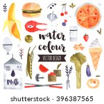 premium quality watercolor... | Shutterstock .eps vector #396387565