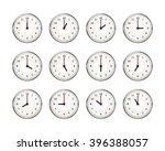 set of clocks icons for every... | Shutterstock .eps vector #396388057