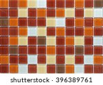 brown striped tile wall texture ... | Shutterstock . vector #396389761