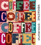 coffee typographical vintage... | Shutterstock .eps vector #396390484