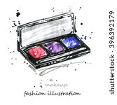 abstract watercolor fashion... | Shutterstock . vector #396392179