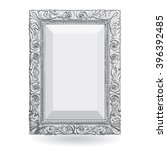 silver vintage frame with... | Shutterstock . vector #396392485