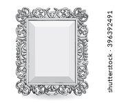 silver vintage frame frame with ... | Shutterstock . vector #396392491
