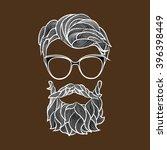 beard and mustache   a...   Shutterstock .eps vector #396398449
