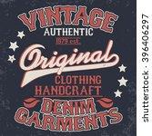 denim typography  shirt america ... | Shutterstock .eps vector #396406297