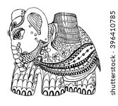 indian elephant vector... | Shutterstock .eps vector #396410785