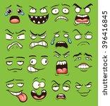 cartoon faces. vector clip art... | Shutterstock .eps vector #396416845