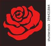 red rose on a dark background | Shutterstock .eps vector #396421864
