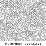 vector seamless floral pattern... | Shutterstock .eps vector #396421891
