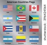 american flags. usa. brazil.... | Shutterstock .eps vector #396424564