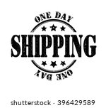 one day shipping stamp on a... | Shutterstock .eps vector #396429589