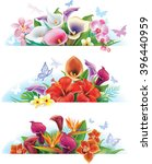 set banners with flowers | Shutterstock .eps vector #396440959