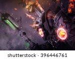 undead warlock   demon concept  ... | Shutterstock . vector #396446761