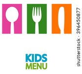 kids menu background  | Shutterstock .eps vector #396450877